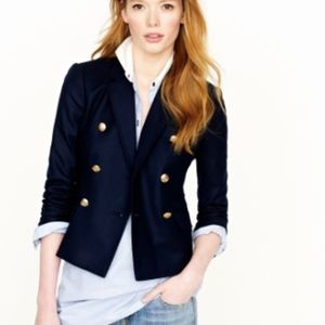 J. Crew Navy double breasted blazer
